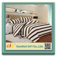Buy cheap Striped Luxury White / Blue / Red Polyster Cotton Bed Sheets Soft Fitted product