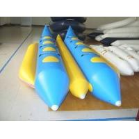 Buy cheap Dual Lane Inflatable Blue And Yellow Banana Boat For 8 Persons , Inflatable Water Games from wholesalers