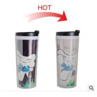 Buy cheap New customed print logo promotional double wall plastic colour change mugs cup tumbler from Wholesalers