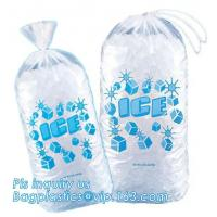 Buy cheap Ldpe disposable Plastic drawstring 10 Lb ice bags, Reusable FDA Safe Food Grade Plastic Drawstring Ice Bag, Heavy Duty C from wholesalers