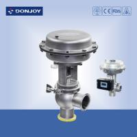 Buy cheap Stainless steel sanitary diaphragm regulating pneumatic reversing valve with square positioner from wholesalers