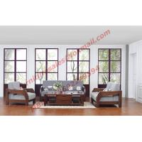 Buy cheap Solid Wood Sofa with Upholstery for Luxury Living Room Made in China from wholesalers