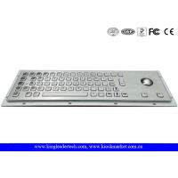 Buy cheap Panel Mount Brushed Metal Industrial Keyboard With Trackball And 64 Keys from wholesalers