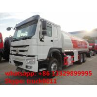 Buy cheap SINO TRUK HOWO 25,000L oil tank truck for sale, cheapest price 25m3 336hp diesel dispensing truck for sale from wholesalers