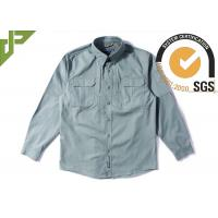 Olive Green Tactical Combat Shirt with Hidden Button Down Collar For Men
