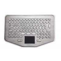 Buy cheap Mini IP65 Explosion Proof desk top industrial metal keyboard With waterproof touchpad from wholesalers