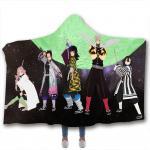 Buy cheap Anime children's adult hooded blanket velvet fabric rectangular hand washable from wholesalers