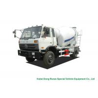 Buy cheap Industrial 4x2 / 4x4 Mobile Concrete Agitator Truck 6 Cbm With 3 Seater from wholesalers