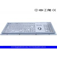 Buy cheap Rugged Metal Industrial Keyboard With Trackball 103 Function Keys And Number Keypad from wholesalers