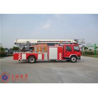 Buy cheap Stainless Steel Fire Pump Aerial Platform Fire Truck , Wheel Base 5550mm Aerial Ladder Truck from wholesalers