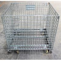 Buy cheap SS 304 316 Wire Mesh Storage Cages Folding And Moving Large Capacity from wholesalers
