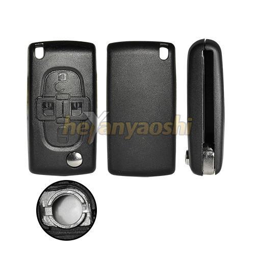 Buy cheap PSA 4 Button Flip Key , Lock / Unlock Folding Remote Key Broken Proof from wholesalers