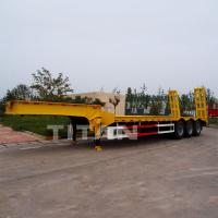 Buy cheap Heavy hauler 3 axles 60 tons low bed semi trailer from wholesalers