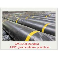 Buy cheap 2mm Black Plastic Sheet HDPE Geomembrane Supplier from wholesalers