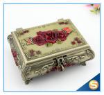 Buy cheap Pierced Earring Jewelry Box Silver Plated Jewelry Box Vintage Jewelry Box from wholesalers
