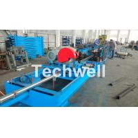 Buy cheap Step Beam Rack Roll Forming Machine With Welding Line , Servo Flying Saw Cutting Device from wholesalers