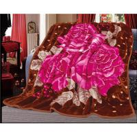 Buy cheap 3D Flower Printed Blankets 100% Polyester Solid Color Blanket from wholesalers