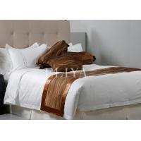 Modern embroidery double size brilliant hotel bed linen
