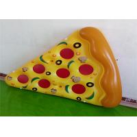 Buy cheap Giant Yellow Pizza Floating Water Mat Summer Water Toys 0.25mm PVC from wholesalers