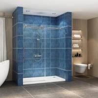 Buy cheap Stainless steel frameless sliding shower glass door shower enclosure product
