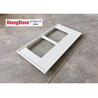 Buy cheap White Epoxy Resin Worktop Laboratory Work Benches Flat Edge / Eased Edge from wholesalers