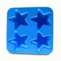 Buy cheap Silicone Ice Cube Tray in Star Shape, Made of 100% Food-Grade Silicone, Passed product