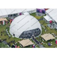 Buy cheap Outside Event Large Geodesic Tent Durable With High Strength Steel Tube Frame from wholesalers