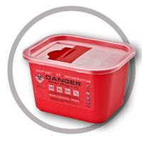 Buy cheap 2 Litre Sharps disposal container, Sliding Lid, Red sharps containers - WinnerCare from wholesalers