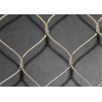 Buy cheap High Tensile Strength SS Wire Rope Mesh , Safety Stainless Steel Rope Net from wholesalers