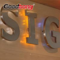 Buy cheap Customized Outdoor Brushed metal Backlit  LED letter for sign from wholesalers