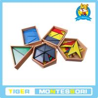 Buy cheap Montessori materials-Constructive Triangles With 5 Boxes from wholesalers