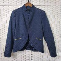Buy cheap Navy Jacquard Long Sleeve Women's Office Wear Jackets For Spring And Autumn product