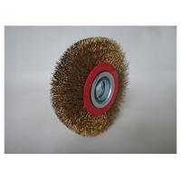 China 300mm crimped bench wire wheel brush, Arbor hole 32mm,medium face,0.008'' wire,Hawk brand on sale