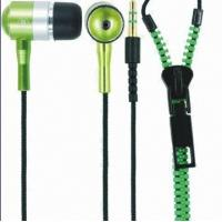 Buy cheap Zipper Good-looking Colorful Wired Earphones Tangle-free Waterproof with ABS Housing for Noise Cancellation from wholesalers