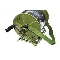 Buy cheap Portable tatical fiber retractable cable reel with cord 100M 200M 500M 1000M from wholesalers