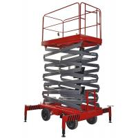 Buy cheap Four Wheel 11 Meters Industrial Mobile Scissor Lift Platform 300Kg Loading from wholesalers