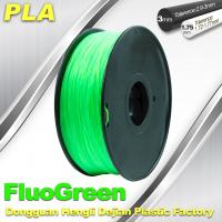 Buy cheap 1.75 / 3mm PLA Fluo - Green Fluorescent  Filament for RepRap , Cubify product