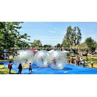 Buy cheap crystal clear soccer bubble inflatable human zorb ball on