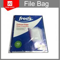 Buy cheap A4 punched file pocket 11holes clear plastic folder pp sheet protectors from wholesalers