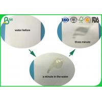 Buy cheap 0.3mm To 3mm Uncooated White Absorbent Paper / Bibulous Paper For Desiccant Tablet from wholesalers