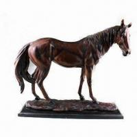 Buy cheap Polyresin Horse Statue, Suitable for Home Decoration from wholesalers