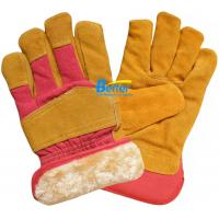 Buy cheap Golden Cow Split Leather Work Gloves-BGCL203W from wholesalers