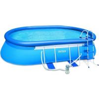 Double Line Outdoor Blue Kids Inflatable Family Pool Good Tension 104088309