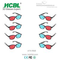 Buy cheap Plastic Red Cyan Blue 3D Glasses Anaglyph For Passive 3 D Films from wholesalers