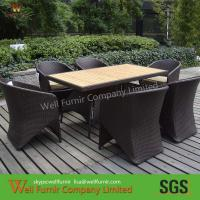 Buy cheap outdoor /indoor wicker dinning set with table and 6pcs chairs from wholesalers
