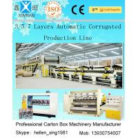 Buy cheap 5 Layer Corrugated Cardboard / Paperboard Making Machine Fully Automatic 50Hz from wholesalers