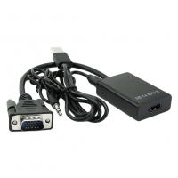 Buy cheap VGA Male To HDMI 1080P HD + Audio TV HDTV Video Converter Adapter with Cable from wholesalers