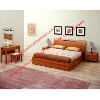Buy cheap Apartment Furniture suite by Lift mechanism storage bed in Cherry wooden bedroom set with Armchair and coffee table product