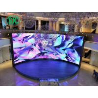 Buy cheap Rental LED wall indoor advertising LED display  p3.91 p4.81 flexible indoor advertising curved stage led screen from wholesalers