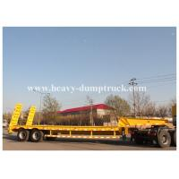 Buy cheap 35 tons lowbed semi trailer 2 Axles bogie suspension , low load wheel loader trailer from wholesalers
